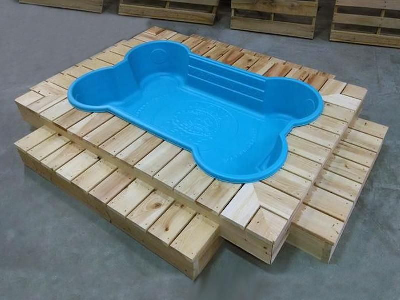 Bone Pool Deck Kit Dog Playground Dog Bone Pool Plastic Dog Pool