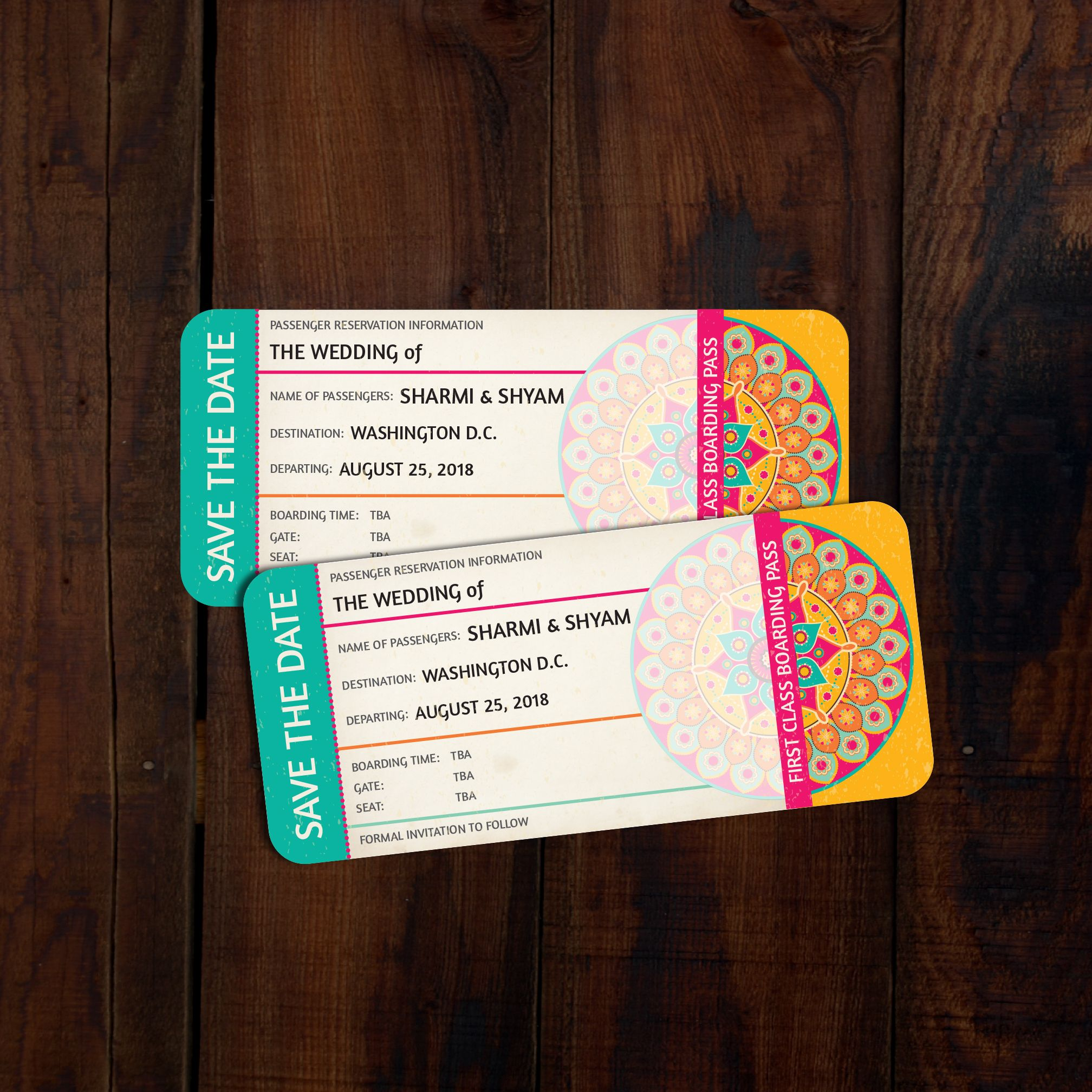 Designs Design A Fun Indian Themed Boarding Pass Style Save The