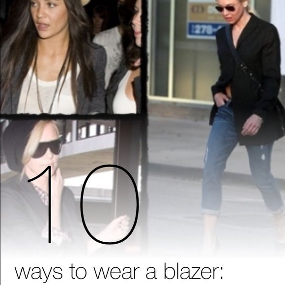 """How do you want to wear a blazer?? Ok.... So the last one only works if you're Rhianna, but a blazer is still fashions hottest trend, and anyone can wear one. """"PULL YOURSELF TOGETHER GIRL"""" it's really the easiest fix for a boring look... Put on a jacket. Many Jackets & Coats Blazers"""