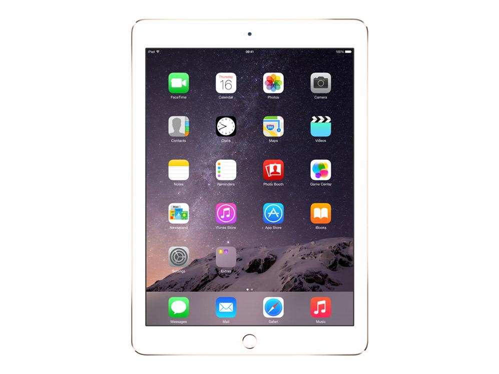 APPLE iPad Air 2 - 128GB WiFi Gold A8X Chip 64Bit M8 Coproz. 24,6cm 9,7Zoll MT 2048x1536 Pixel 264 p