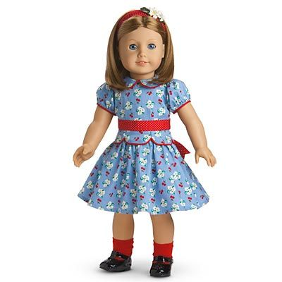 """American Girl 18"""" Molly Doll Red School Bag ONLY Retired"""