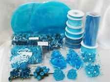 TURQUOISE Wedding Favor Decorations Bridal Shower Table Decorating Supplies Lot