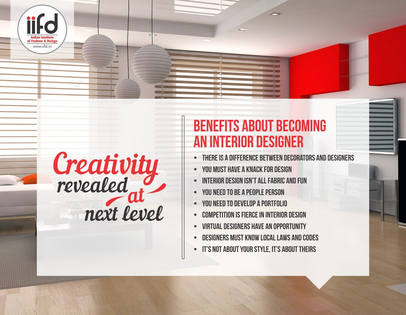 Benefits About Becoming An Interior Designer For Interior Designing Courses Contact 09041766699 Iifd C Interior Design Virtual Virtual Design Design
