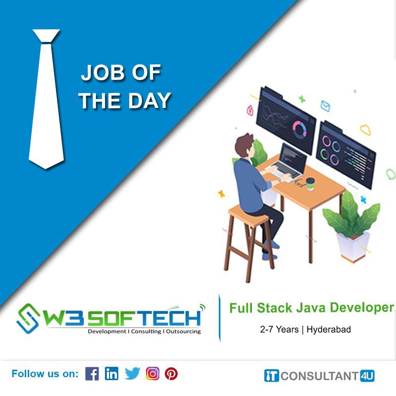 W3softech Is Hiring Senior Fullstackjavadeveloper Itconsultant4u Help Finding A Job Job Posting Career Opportunities
