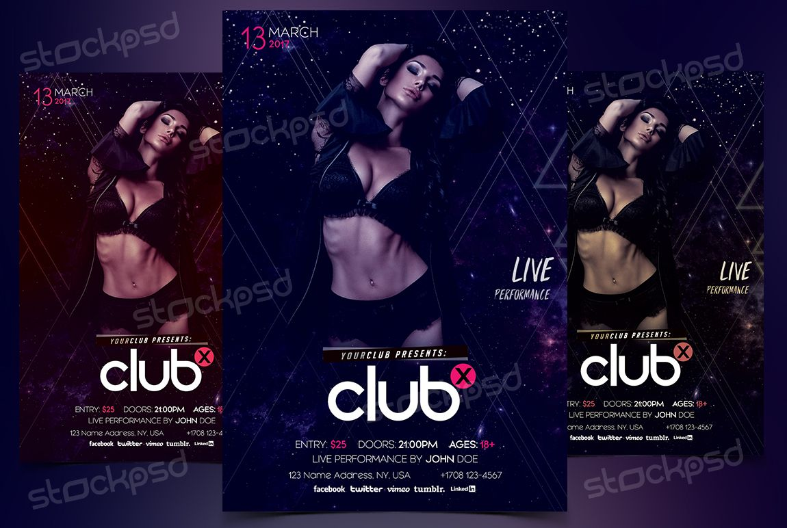 Electro Party  Free Psd Flyer Template  Psd Flyers