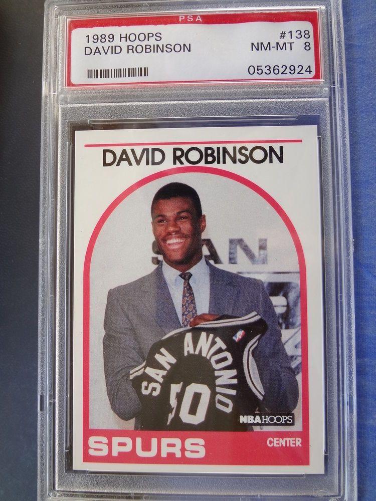David Robinson 1989 Hoops 138 Rookie Card Psa 8 Nm Mint