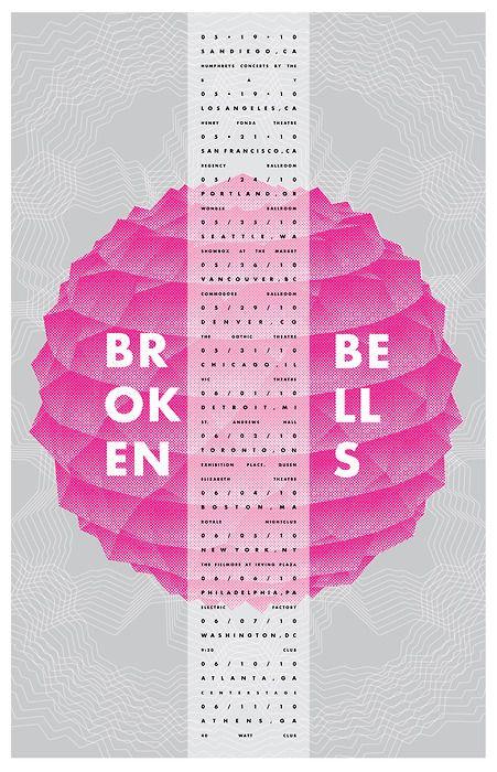 Tour poster for Broken Bells by Jacob Escobedo