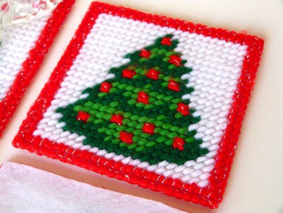 Plastic Canvas Christmas Coaster Patterns.Pin By Keri Kimble On Plastic Canvas Patterns Plastic