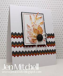 French Foliage w/ Tasteful Trim - Jen Mitchell -Stampin' Up!