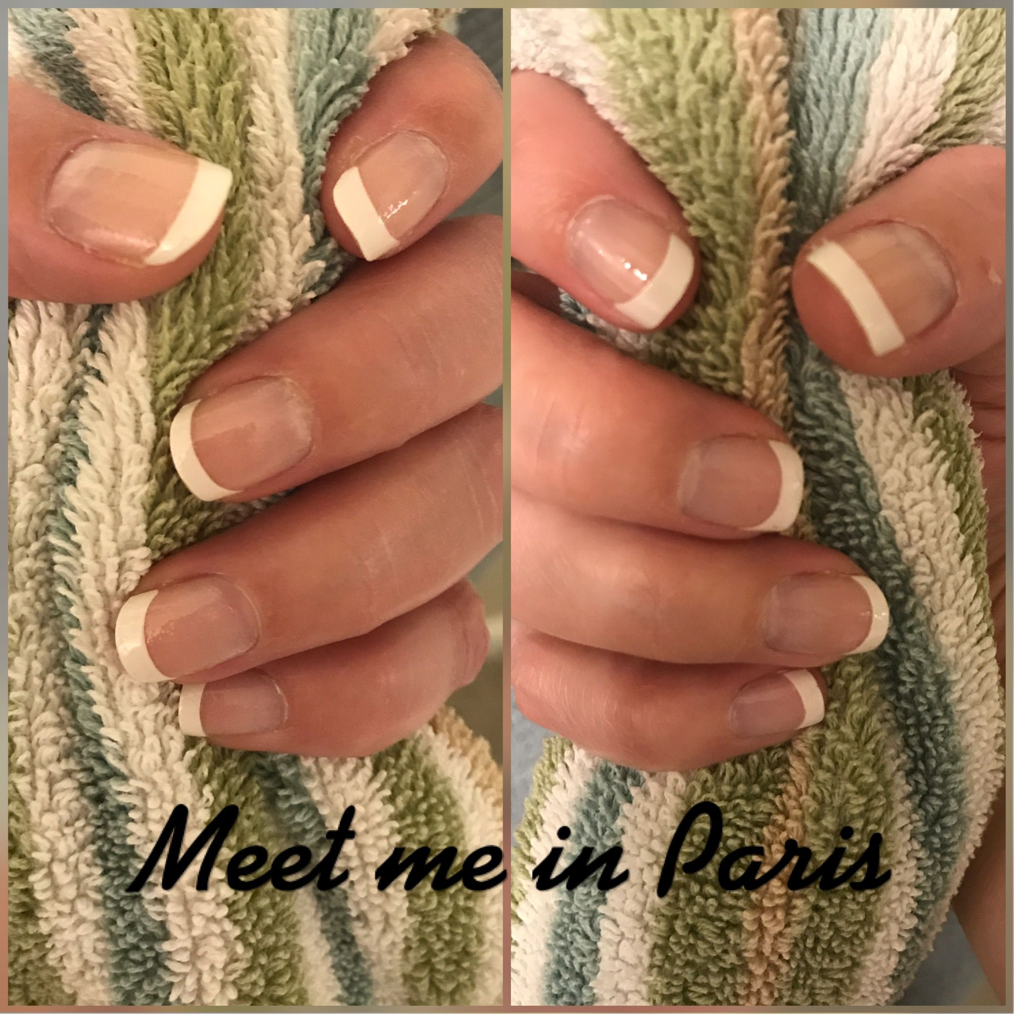French Manicure using Color Street \
