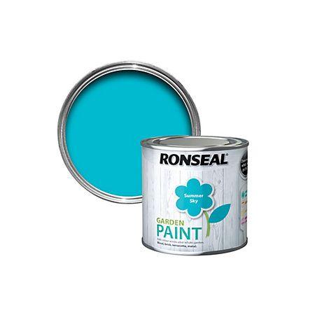 Ronseal Summer Sky Garden Paint 250ml   Departments   DIY at B&Q ...