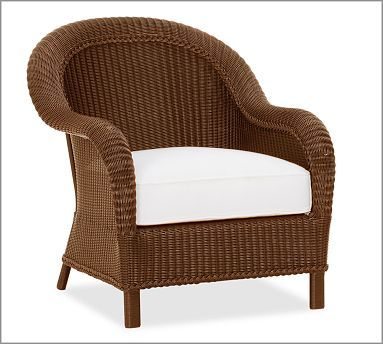 Palmetto All Weather Wicker Armchair Honey At Pottery