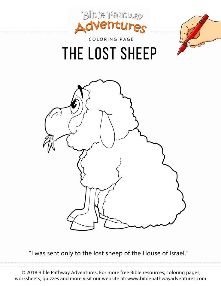 The Lost Sheep Coloring Page For Kids The Lost Sheep Bible