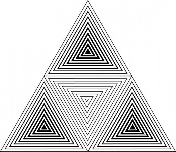 Geometric triangle tattoos design pinteres for Geometric illusion art