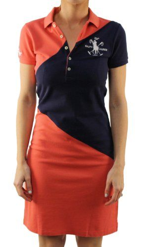 "Polo Ralph Lauren Womens ""Red Navy"" Shirt Dress « Clothing Adds Anytime 399a673e3e01"