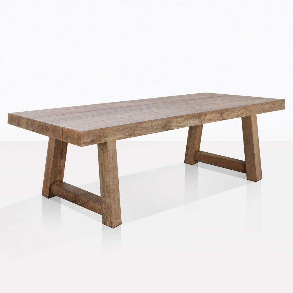 Hunter Dining Table Reclaimed Teak Outdoor Furniture Teak Warehouse Teak Outdoor Furniture Reclaimed Dining Table Teak Table Outdoor