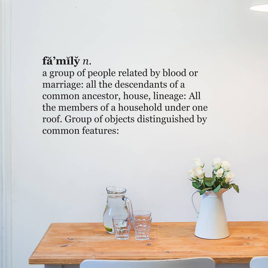 Family Dictionary Definition Wall Sticker