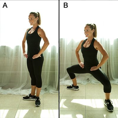 Top 10 Moves for Thinner Thighs - 15 reps, back to back, four days a week. It's worth a shot...