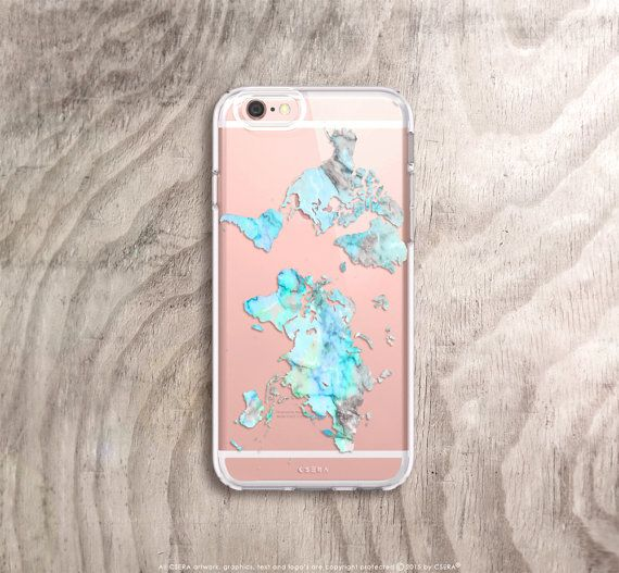 World Map Iphone 6s Case.Travel Gift Mint World Map Iphone Case Iphone 8 Case Silicone