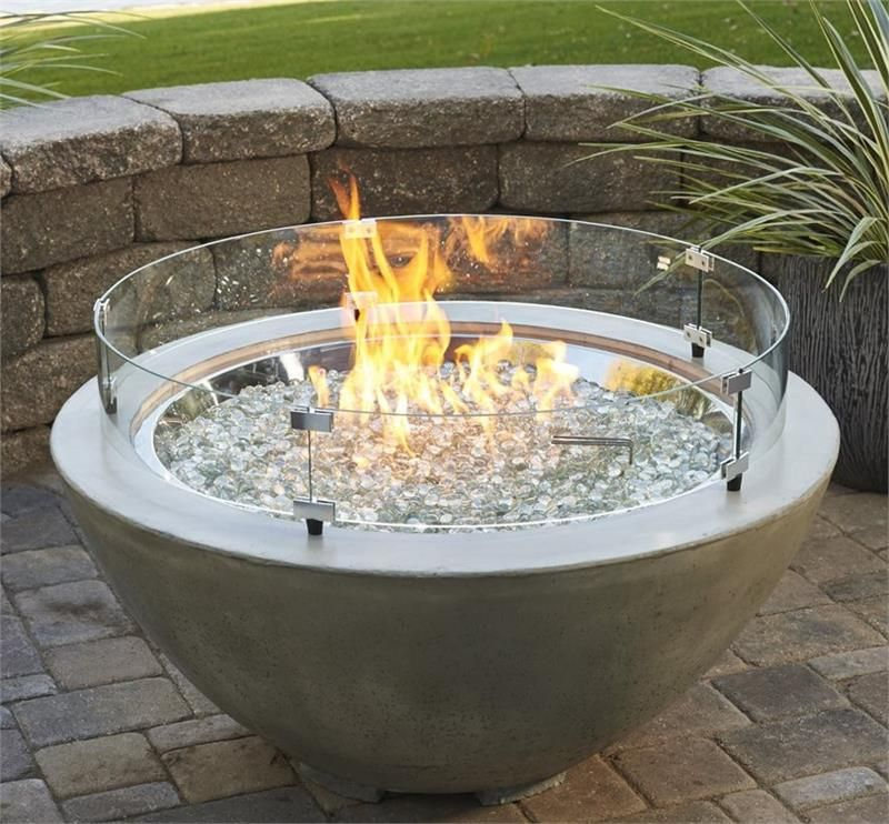 Gas Fire Pit Round Wind Guards Natural Gas Fire Pit Propane