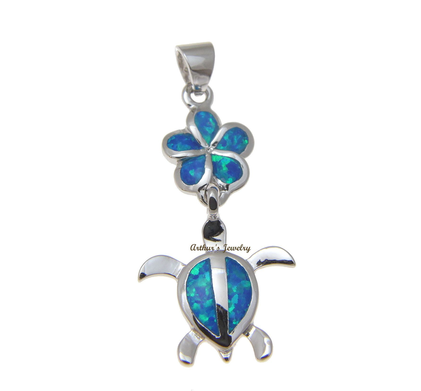 Inlay opal hawaiian plumeria honu sea turtle pendant 925 sterling inlay opal hawaiian plumeria honu sea turtle pendant 925 sterling silver 15mm aloadofball Gallery
