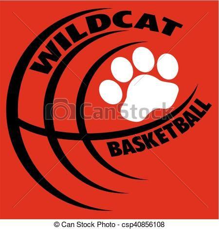 vector wildcat basketball stock illustration royalty free rh pinterest com