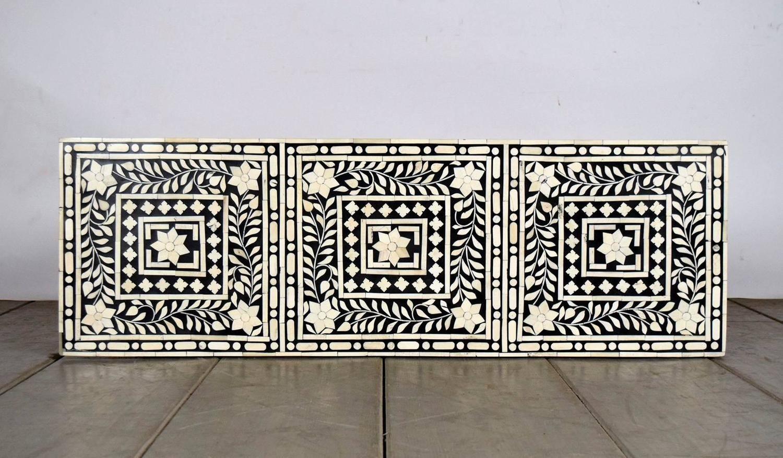 Beautiful Moroccan Bone Inlay Console Table 2 Bone Inlay Bone