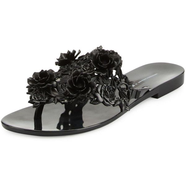 b0688411208da Melissa Shoes Harmonic Floral Thong Sandal ( 48) ❤ liked on Polyvore  featuring shoes