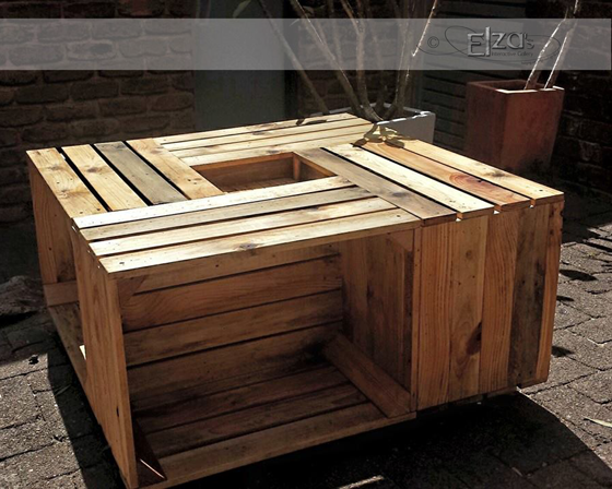 Customer request apple crate coffee table on castors with ...