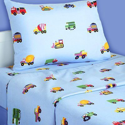 Boys Flannel Sheets Planes And Trucks Twin Flannel Sheet Set