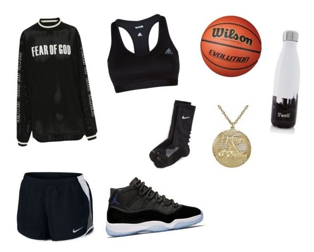 """""""Sporty outfit"""" by rachelle-susanto on Polyvore featuring adidas, Fear of God, NIKE, S'well and Alison & Ivy"""