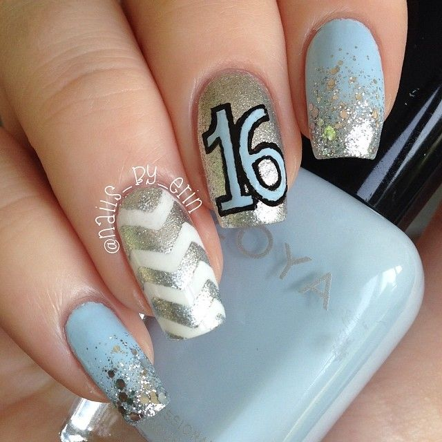 Pin By Erin Nailsbyerin On My Nails Pinterest Sweet 16 Nails