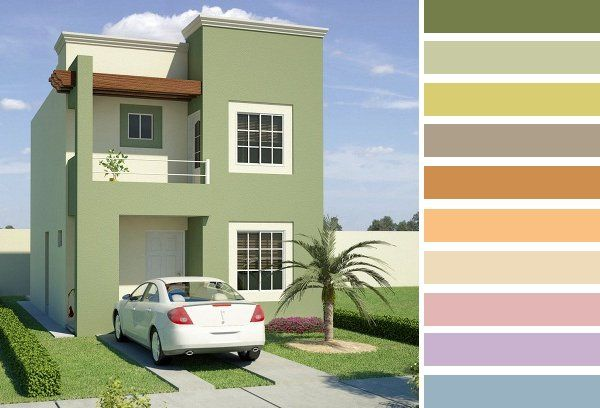 Colores para frentes de casas saber y hacer casas for Opciones para pintar mi casa interior
