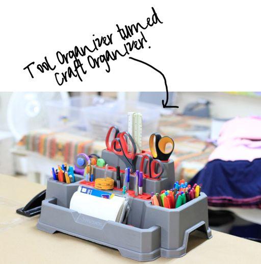 Tool organizer for crafteoom