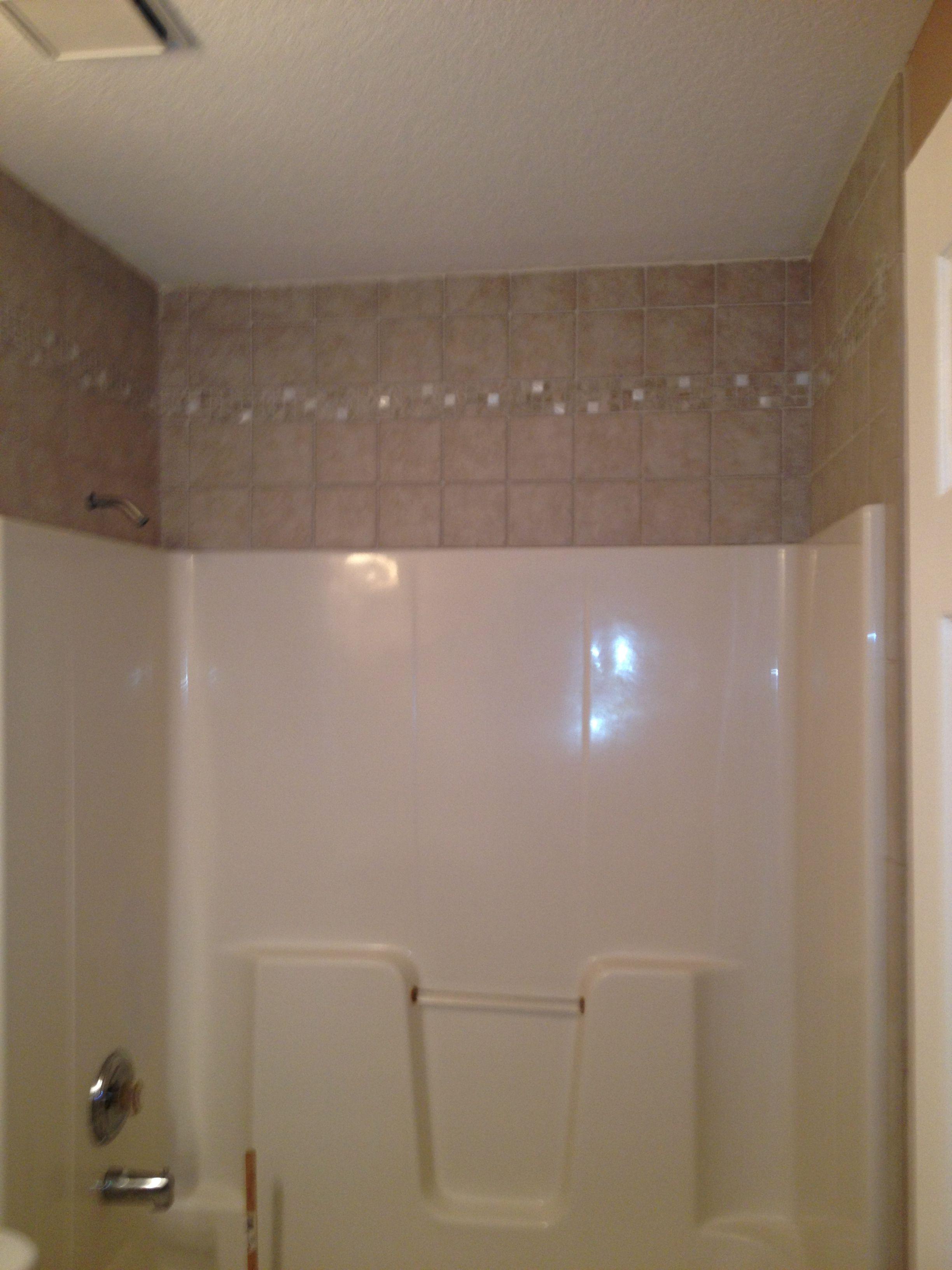 Tile Around The The Fiberglass Tub Bathrooms Remodel