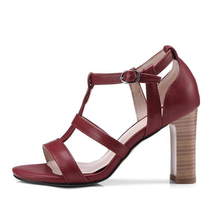 801ae1bfb55 Women s Open Toe Block High Heel Sandals Ankle Strap Platform Pump Chunky  Shoes-shoes-Vinny s Digital Emporium