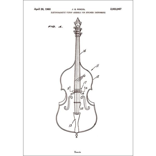 Bomedo Violin Wall Print - A1 ($87) ❤ liked on Polyvore featuring home, home decor, wall art, black and white wall art, home wall decor, wall paper home decor and interior wall decor