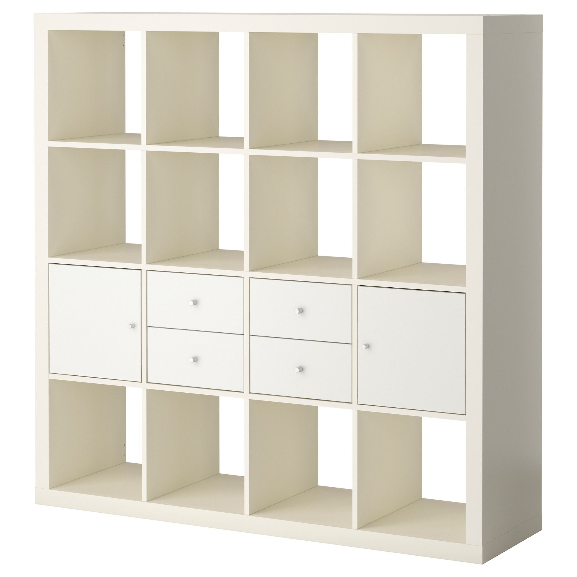 expedit storage combination w doors/drawers - white/white - ikea