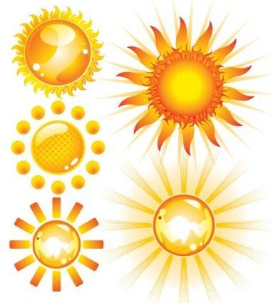 lovely sun vector