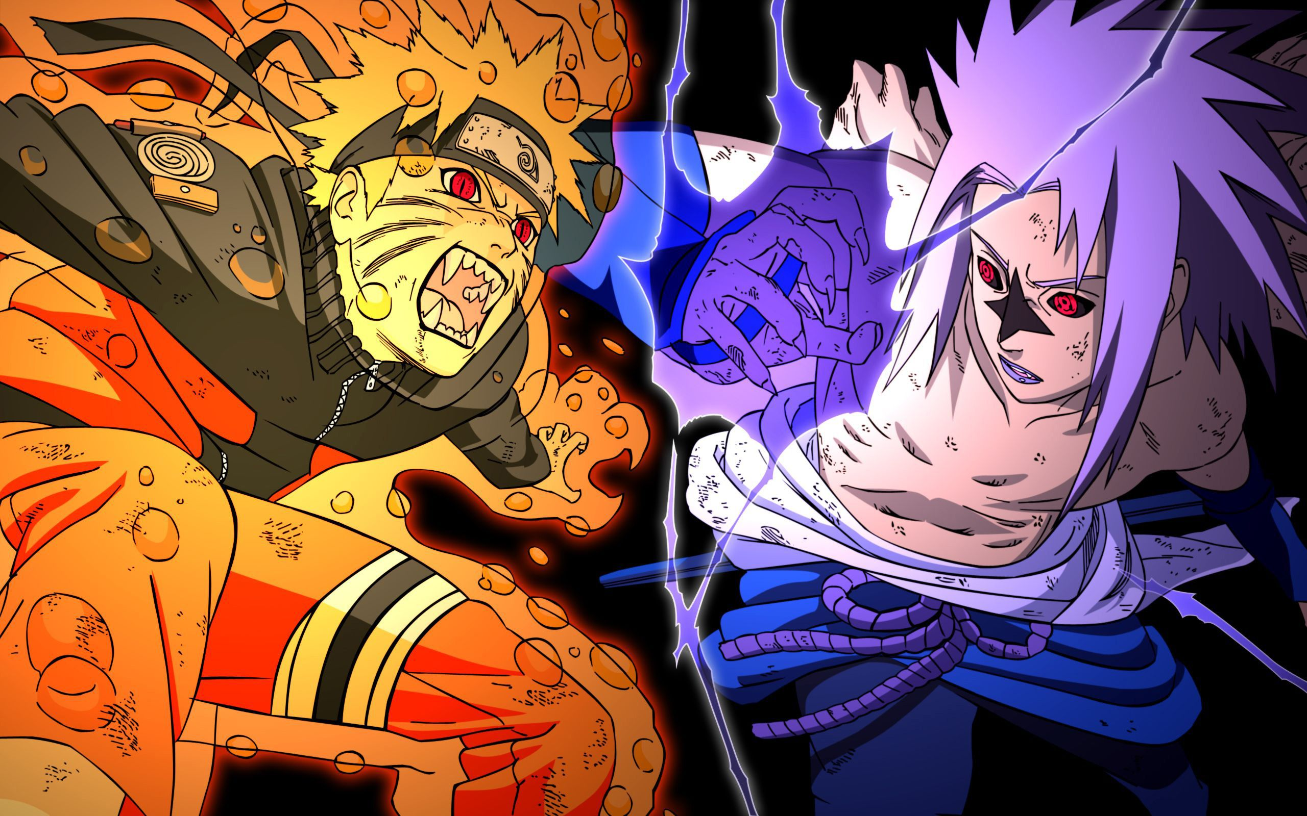 Gambar Naruto Vs Sasuke Wallpaper Gudang Wallpaper