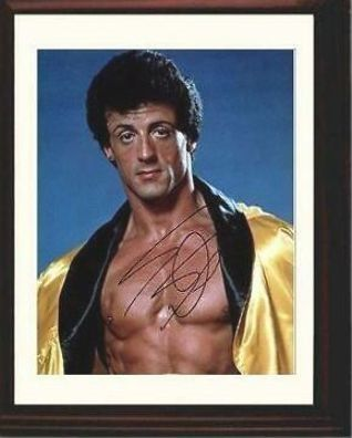 Framed Sylvester Stallone Autograph Replica Print - Gold Robe #fashion #home #garden #homedcor #postersprints (ebay link)