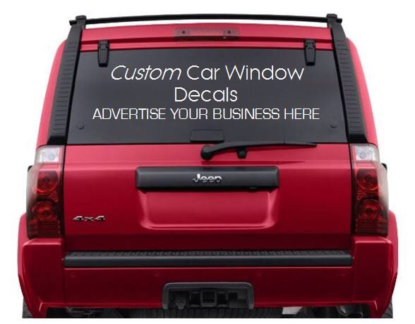 Custom car window decals logos advertise your business personalized car window vinyl lettering