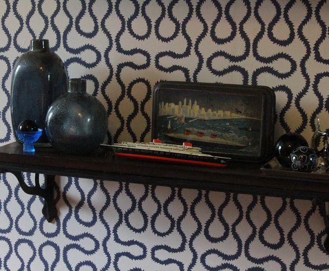 Photo deco chambre blanc contemporain maison de famille - Papier peint contemporain chambre ...