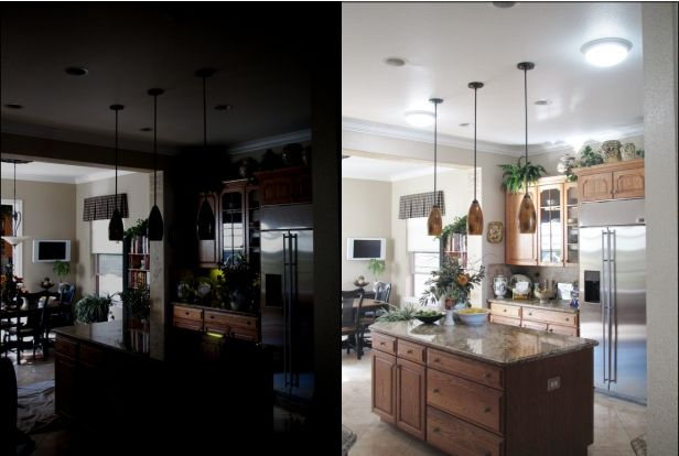 Kitchen Before And After With 2 10 Sun Glo Tubular Skylights These