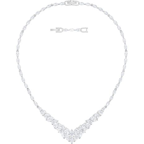 Louison Necklace White Rhodium Plated Rhodium Plated Necklace Plating
