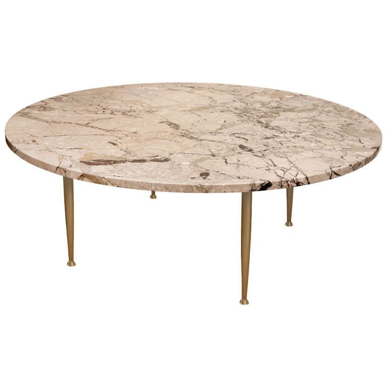 Elegant Coffee Table In Marble With Brass Legs Marbles Tables And - Marble coffee table with brass legs