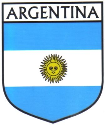 Argentina flag country flag argentina decals stickers set of 3