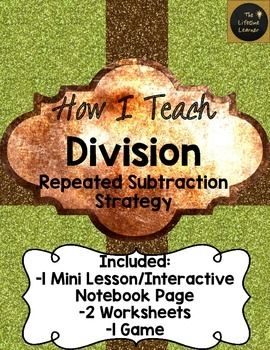 How I Teach Division Using Repeated Subtraction