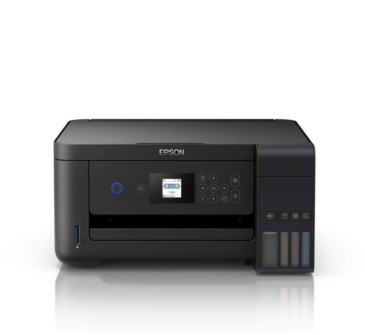 Daudzfunkciju Ierice Printeris Un Skeneris Epson L4160 C11cg23401 Ink Colored A4 Flatbed Scanner Mobile Scanner Tank Printer Ink Tank Printer Printer