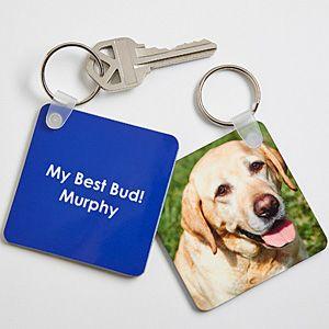 Personalized Pet Photo Key Ring